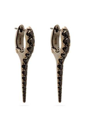 Melissa Kaye Lola Diamond & 18kt Black- Needle Earrings