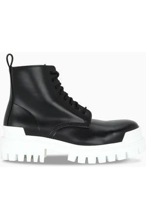 Balenciaga Black/white Strike lace-up boots