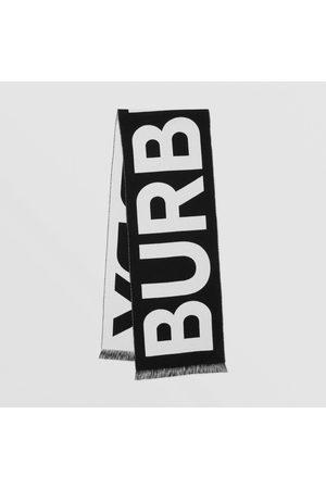 Burberry Wollschal mit Jacquard-Logo, Black