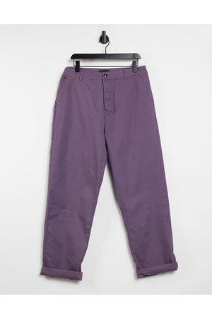 ASOS – Legere Skater-Chinohose in Mauve