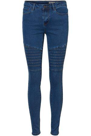 Vero Moda Vmseven Biker Slim Fit Jeans Damen