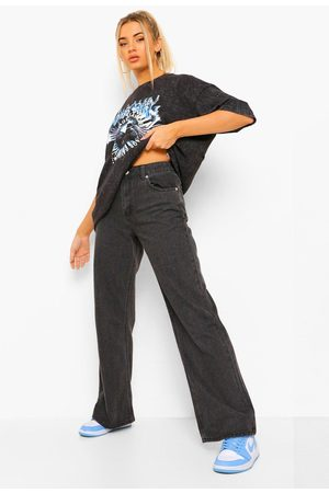 boohoo Womens Basic Weite Fit Stretch-Jeans - - 32