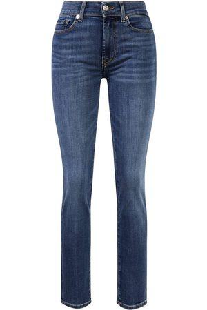 7 for all Mankind Jeans 'Roxanne Bair Vintage' Mittelblau