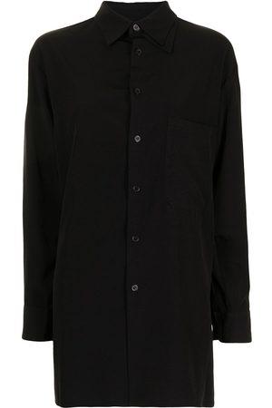 Y's Damen Blusen - Hemd aus Popeline