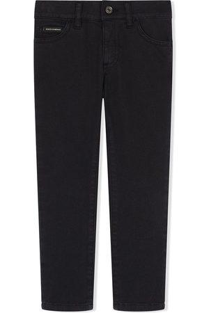 Dolce & Gabbana Kids Skinny-Jeans mit gemalten Streifen