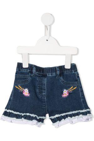 Monnalisa Jeans-Shorts mit Logo-Stickerei