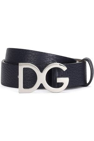 Dolce /& Gabbana Gürtel Aus Reinem Einfarbigem Kalbsleder