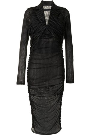 Y / PROJECT Damen Cocktailkleider - Kleid mit Nadelstreifen