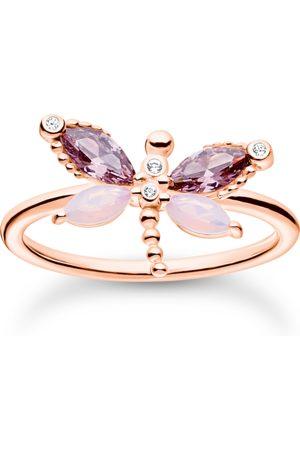 Thomas Sabo Ring Libelle mit Steine roségold