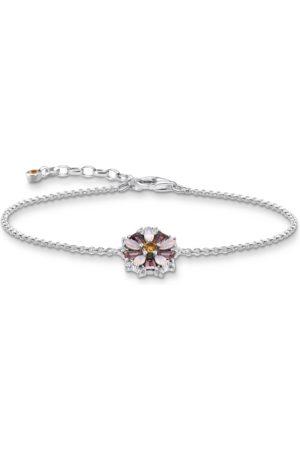Thomas Sabo Armband Blume silber mit Steine fliederfarben