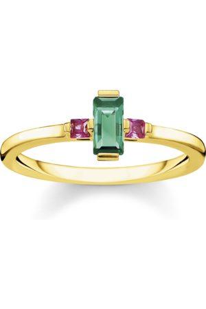 Thomas Sabo Ring Stein Baguette-Schliff grün