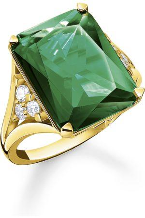 Thomas Sabo Ring Grüner Stein gold