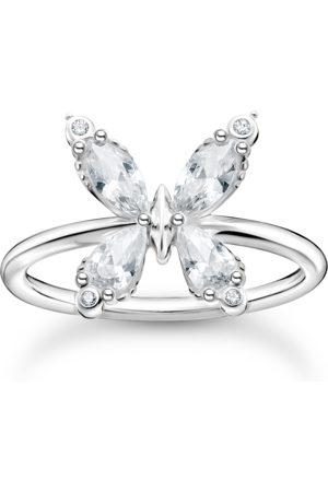 Thomas Sabo Ring Schmetterling weiße Steine