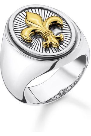 Thomas Sabo Ring Classic Schwarz-gold