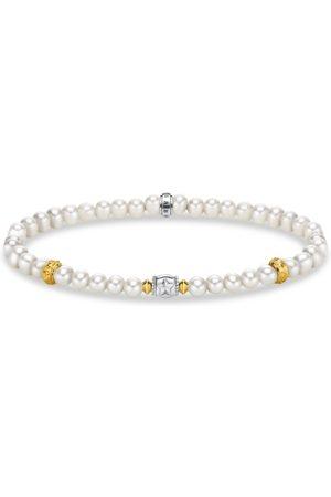 Thomas Sabo Armband beige Perlen mit Halbmond silber