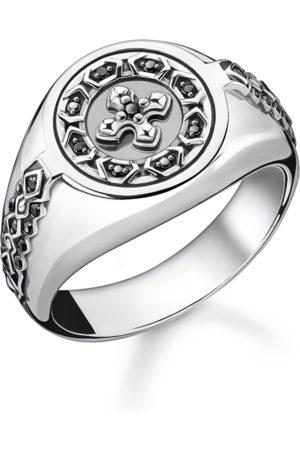 Thomas Sabo Ring Kreuz schwarze Steine