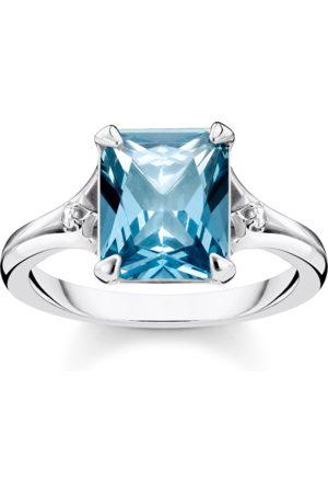 Thomas Sabo Ring blauer Stein mit Mond & Stern