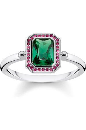 Thomas Sabo Ring Steine Rot & Grün silber