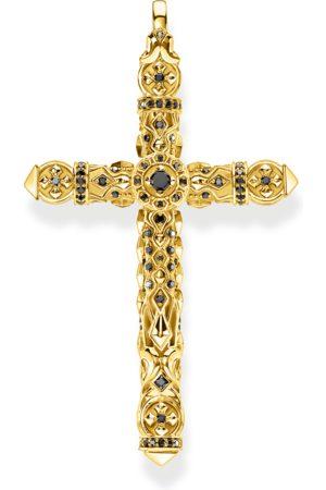 Thomas Sabo Anhänger Kreuz schwarze Steine gold