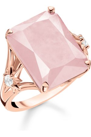 Thomas Sabo Ring Stein rosa groß mit Stern