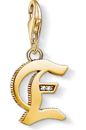Thomas Sabo Charm-Anhänger Buchstabe E gold
