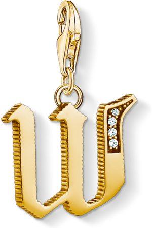 Thomas Sabo Charm-Anhänger Buchstabe W gold