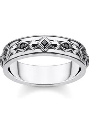 Thomas Sabo Ring schwarze Steine silber