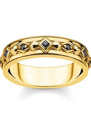 Thomas Sabo Ring schwarze Steine gold