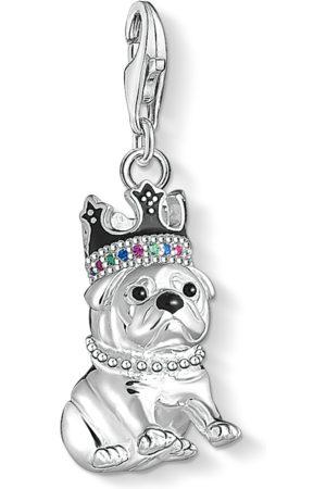 Thomas Sabo Charm-Anhänger Bulldogge mit Krone