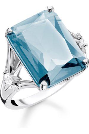Thomas Sabo Ring Stein Blau groß mit Stern