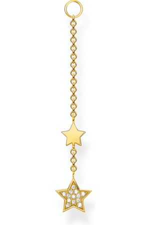 Thomas Sabo Damen Ohrringe - Einzel Ohrring Anhänger Sterne gold