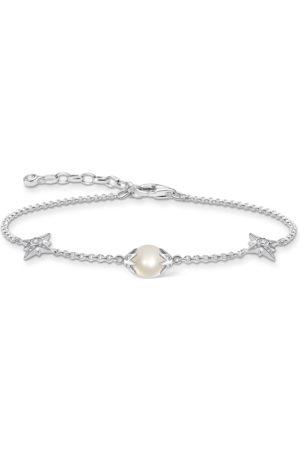 Thomas Sabo Armband Perle mit Sternen silber