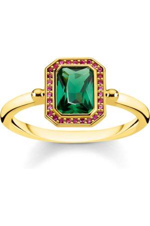 Thomas Sabo Ring Steine Rot & Grün gold
