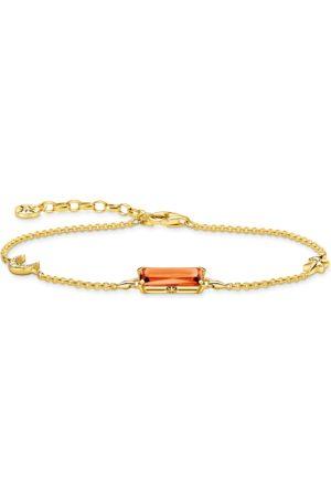 Thomas Sabo Damen Armbänder - Armband oranger Stein mit Stern & Mond gold