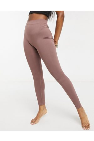 Weekday – Celestia – Nahtlose Yoga-Leggings in Mokka
