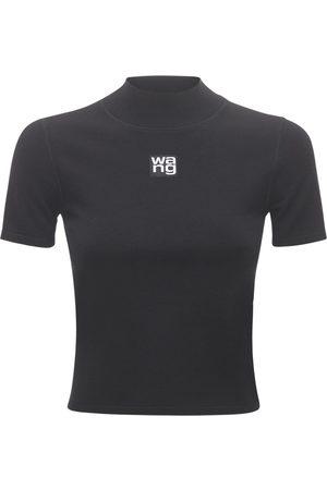 Alexander Wang T-shirt Aus Stretch-jersey Mit Logo