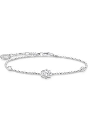 Thomas Sabo Damen Armbänder - Armband Kleeblatt mit Steinen silber