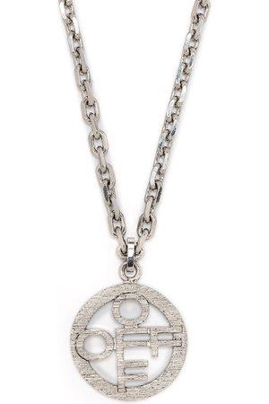 OFF-WHITE Herren Halsketten - Halskette mit texturiertem OFF-Anhänger