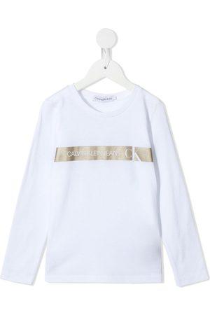 Calvin Klein Langarmshirt mit Logo-Streifen