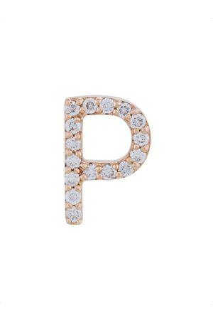 ALINKA 18kt Rotgoldohrstecker mit Diamanten in 'P'-Form
