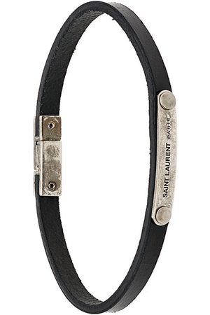 Saint Laurent Armbänder - Lederarmband mit Logo-Gravur