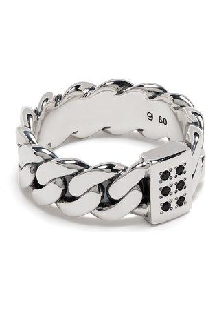 TOM WOOD Ringe - Versilberter Ring im Kettendesign