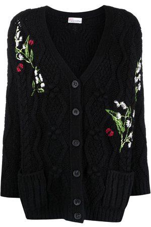 RED Valentino Intarsien-Cardigan mit Blumen