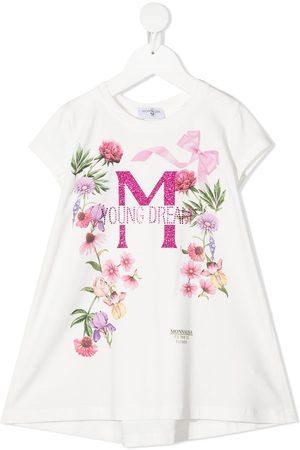 MONNALISA T-Shirtkleid mit Blumen-Print