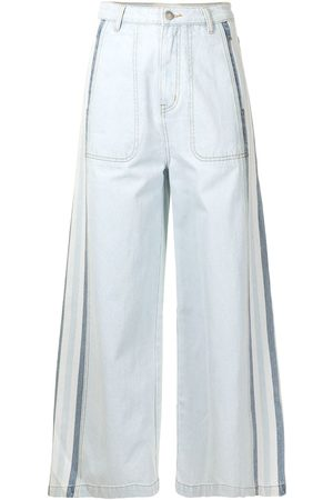 PortsPURE Weite Cropped-Jeans