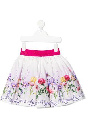 MONNALISA Mädchen Bedruckte Röcke - Faltenrock mit Blumen-Print