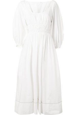 PROENZA SCHOULER WHITE LABEL Gesmocktes Kleid