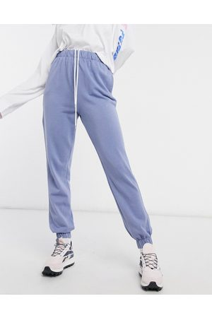 Cotton On – Jogginghose mit hoher Taille in Blau