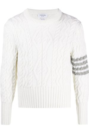 Thom Browne Pullover mit Zopfmuster