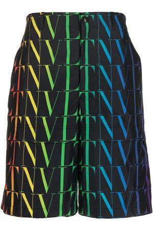 VALENTINO Herren Bermuda Shorts - Bermudas mit VLTN-Print